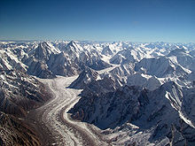 The Baltoro Glacier in Pakistan