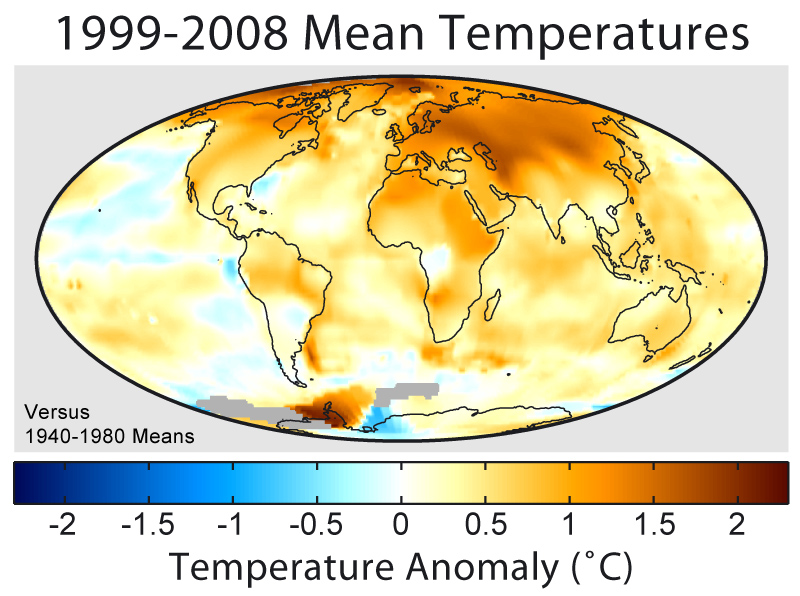 1999-2008 Mean Temperatures