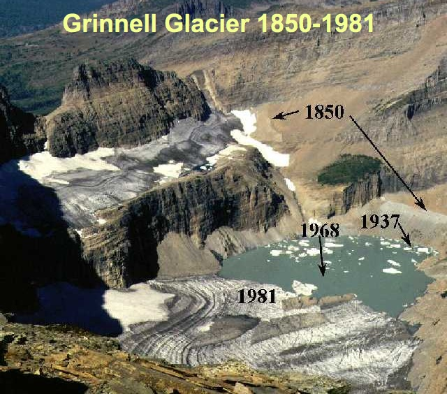 Grinnell Glacier 1850-1981