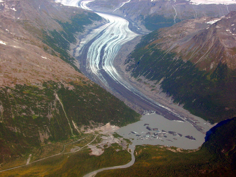 Valdez Glacier in Chugach Mountains, Alaska